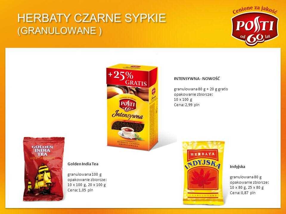 HERBATY CZARNE SYPKIE (GRANULOWANE )