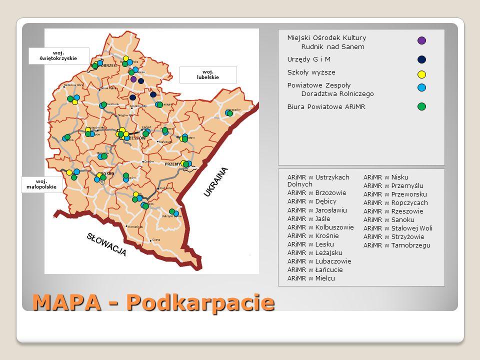 Miejski Ośrodek Kultury Rudnik nad Sanem Urzędy G i M Szkoły wyższe Powiatowe Zespoły Doradztwa Rolniczego Biura Powiatowe ARiMR