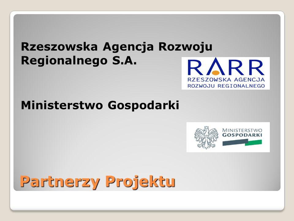 Rzeszowska Agencja Rozwoju Regionalnego S.A. Ministerstwo Gospodarki