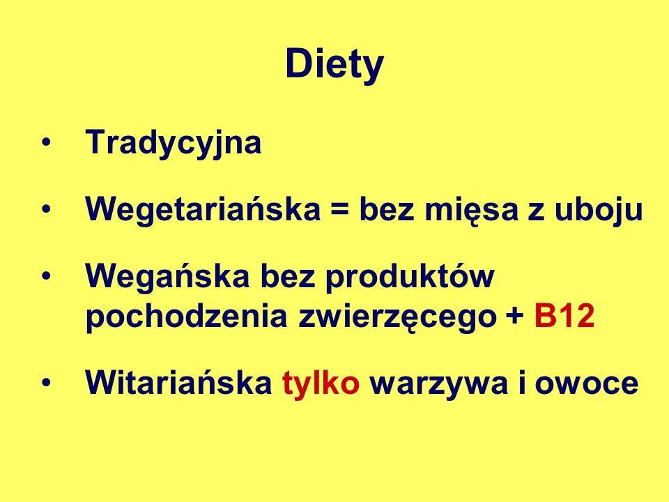 Diety Tradycyjna Wegetariańska = bez mięsa z uboju