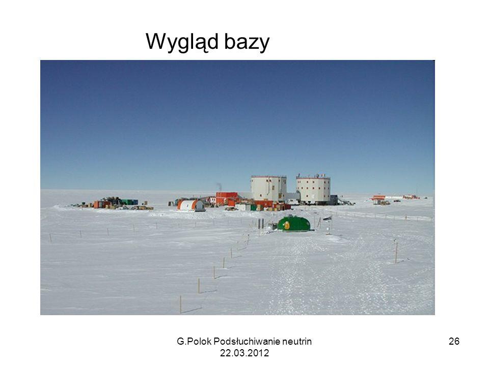 G.Polok Podsłuchiwanie neutrin 22.03.2012