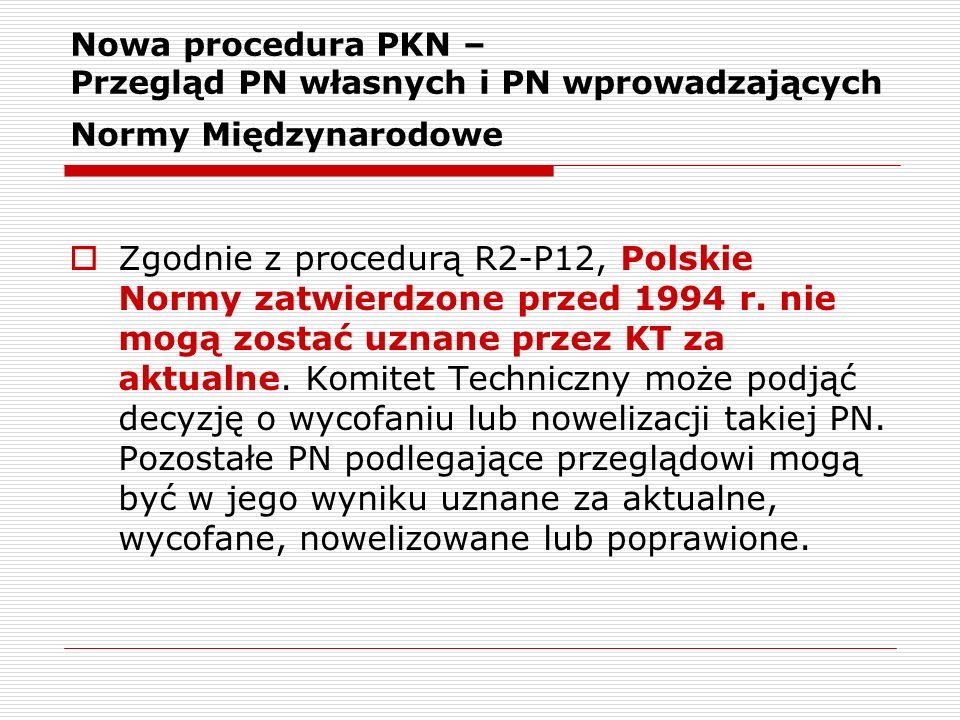 Nowa procedura PKN – Przegląd PN własnych i PN wprowadzających Normy Międzynarodowe