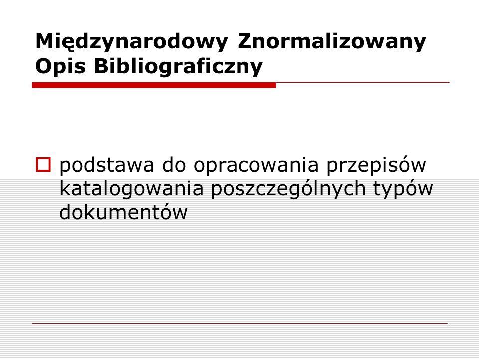 Międzynarodowy Znormalizowany Opis Bibliograficzny