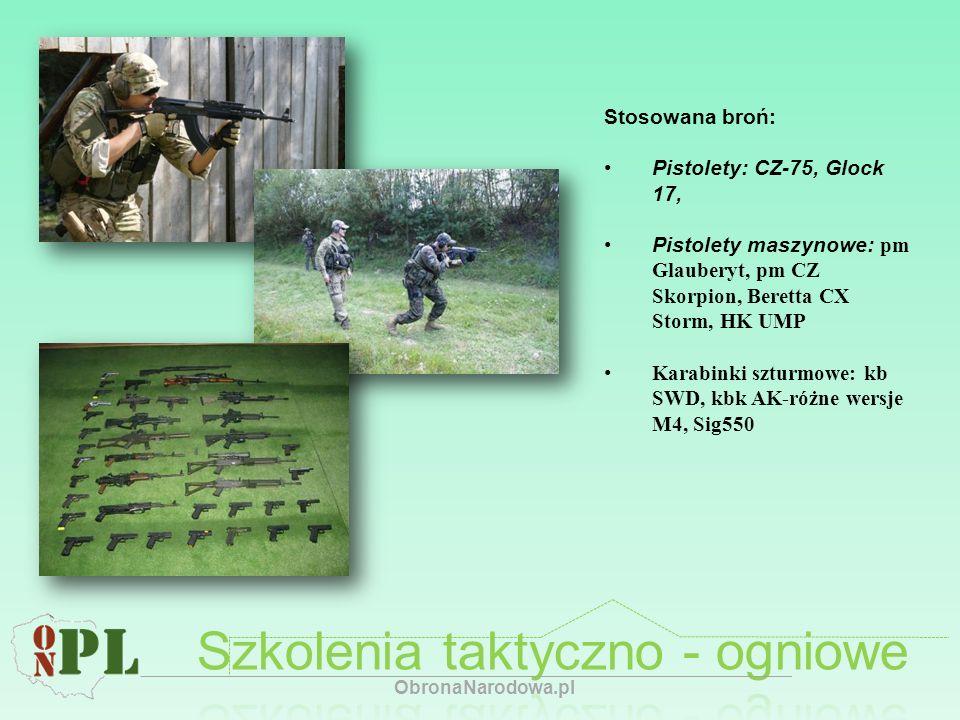 Szkolenia taktyczno - ogniowe