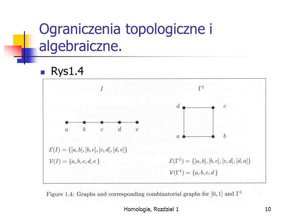 Ograniczenia topologiczne i algebraiczne.
