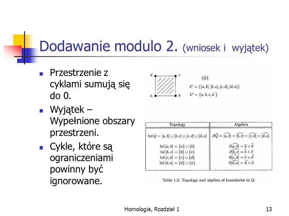 Dodawanie modulo 2. (wniosek i wyjątek)
