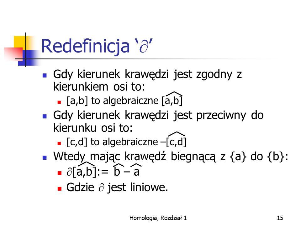 Redefinicja '' Gdy kierunek krawędzi jest zgodny z kierunkiem osi to: