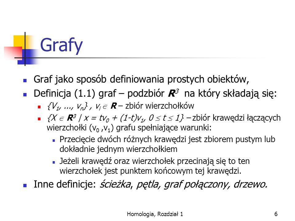 Grafy Graf jako sposób definiowania prostych obiektów,