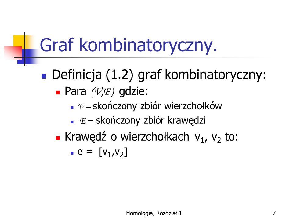 Graf kombinatoryczny. Definicja (1.2) graf kombinatoryczny: