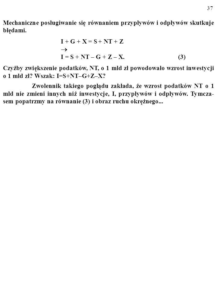 Mechaniczne posługiwanie się równaniem przypływów i odpływów skutkuje błędami.