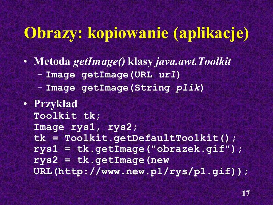 Obrazy: kopiowanie (aplikacje)