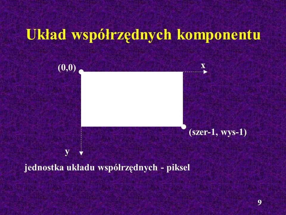 Układ współrzędnych komponentu