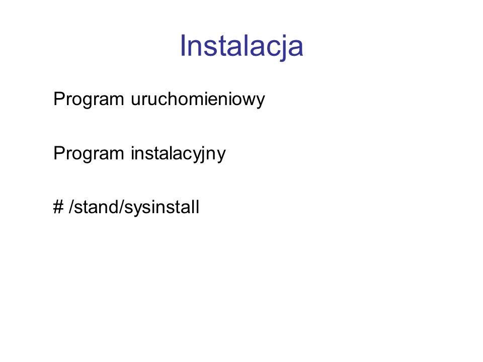 Instalacja Program uruchomieniowy Program instalacyjny