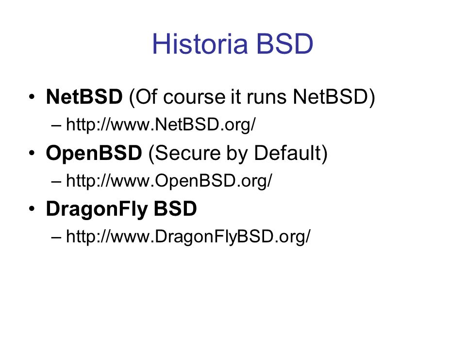 Historia BSD NetBSD (Of course it runs NetBSD)