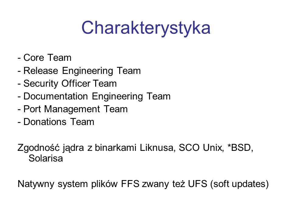 Charakterystyka - Core Team - Release Engineering Team