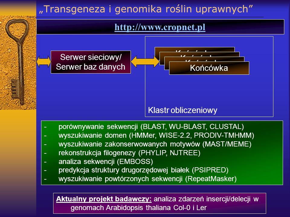 """""""Transgeneza i genomika roślin uprawnych"""