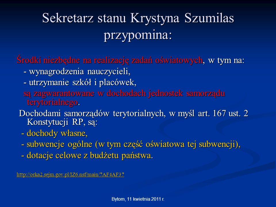 Sekretarz stanu Krystyna Szumilas przypomina: