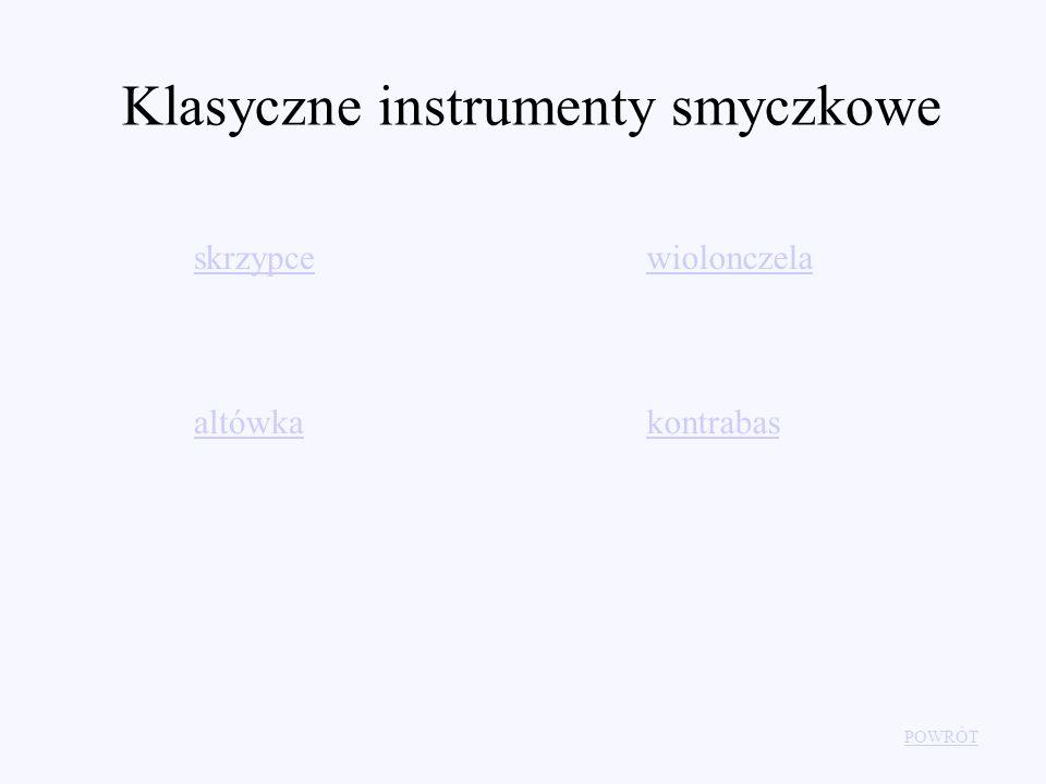 Klasyczne instrumenty smyczkowe