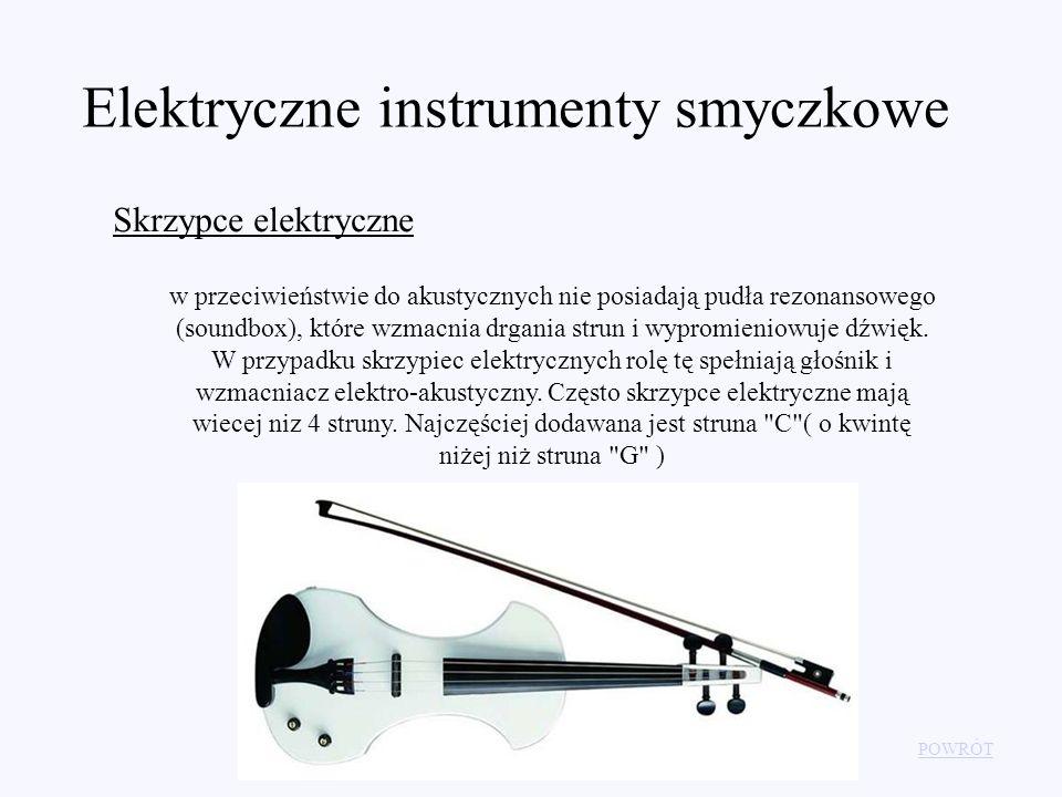 Elektryczne instrumenty smyczkowe