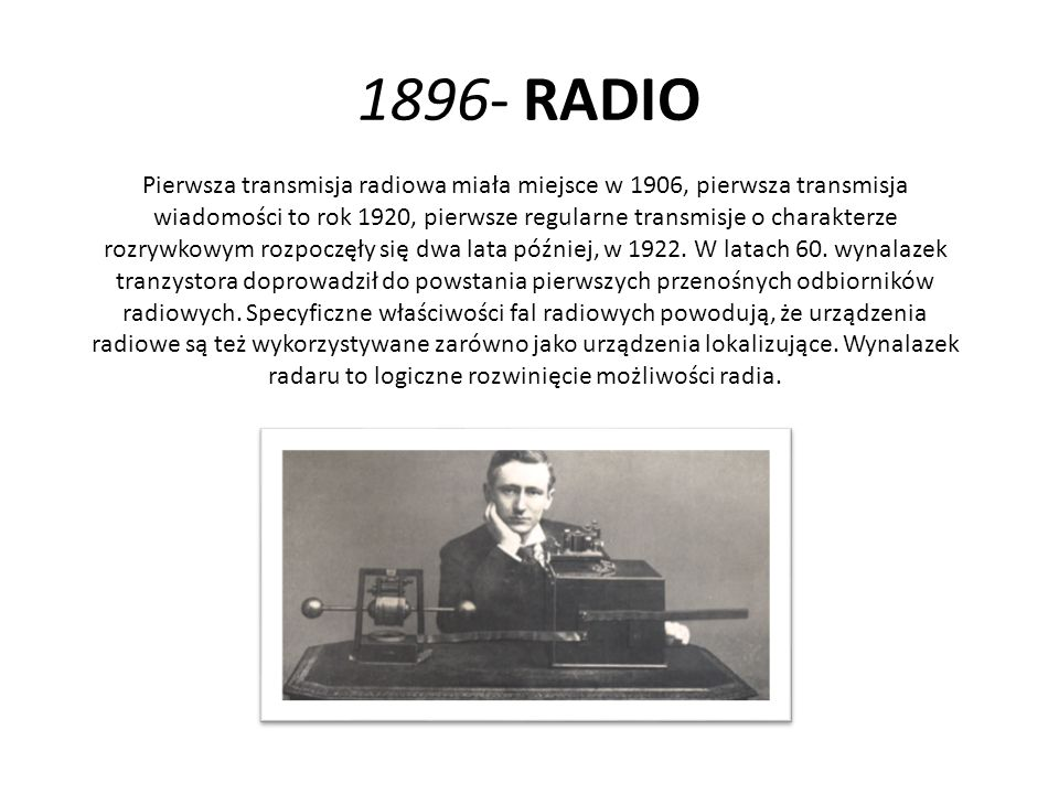 1896- RADIO