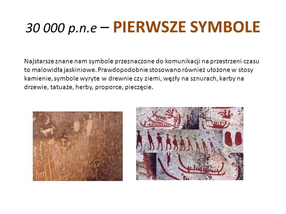 30 000 p.n.e – PIERWSZE SYMBOLE