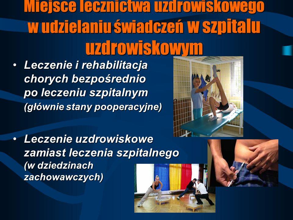 Miejsce lecznictwa uzdrowiskowego w udzielaniu świadczeń w szpitalu uzdrowiskowym