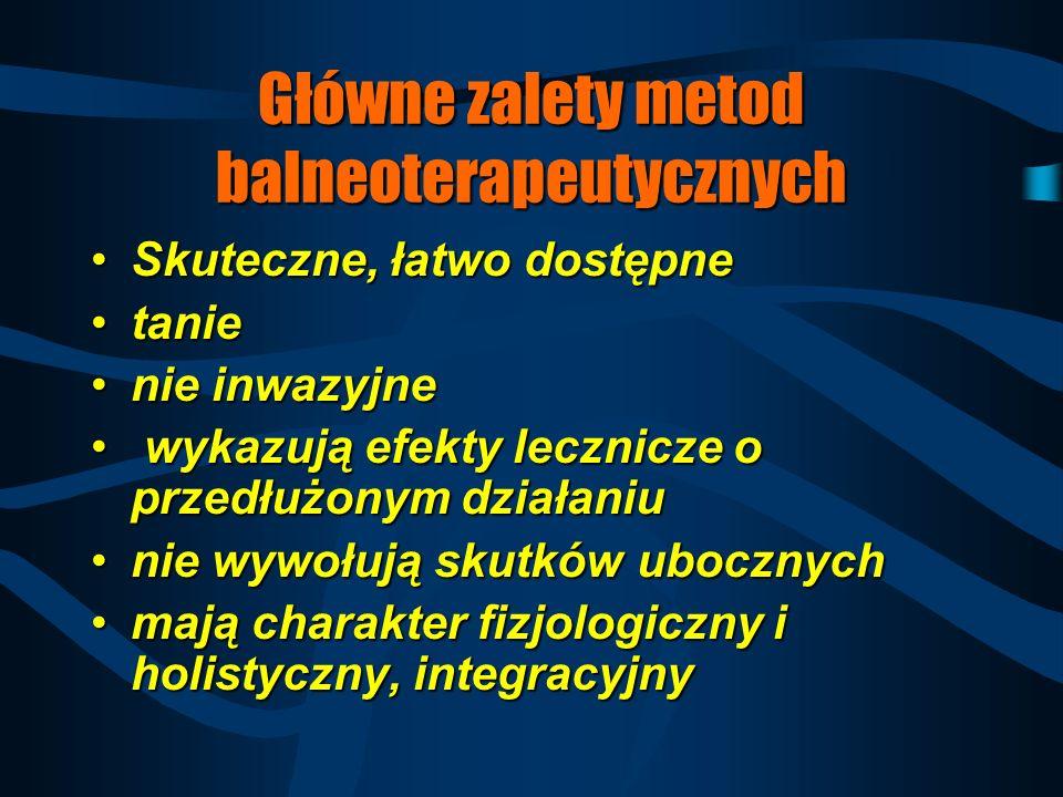 Główne zalety metod balneoterapeutycznych