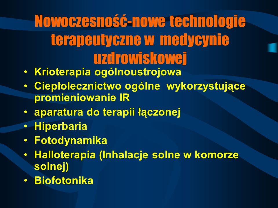 Nowoczesność-nowe technologie terapeutyczne w medycynie uzdrowiskowej
