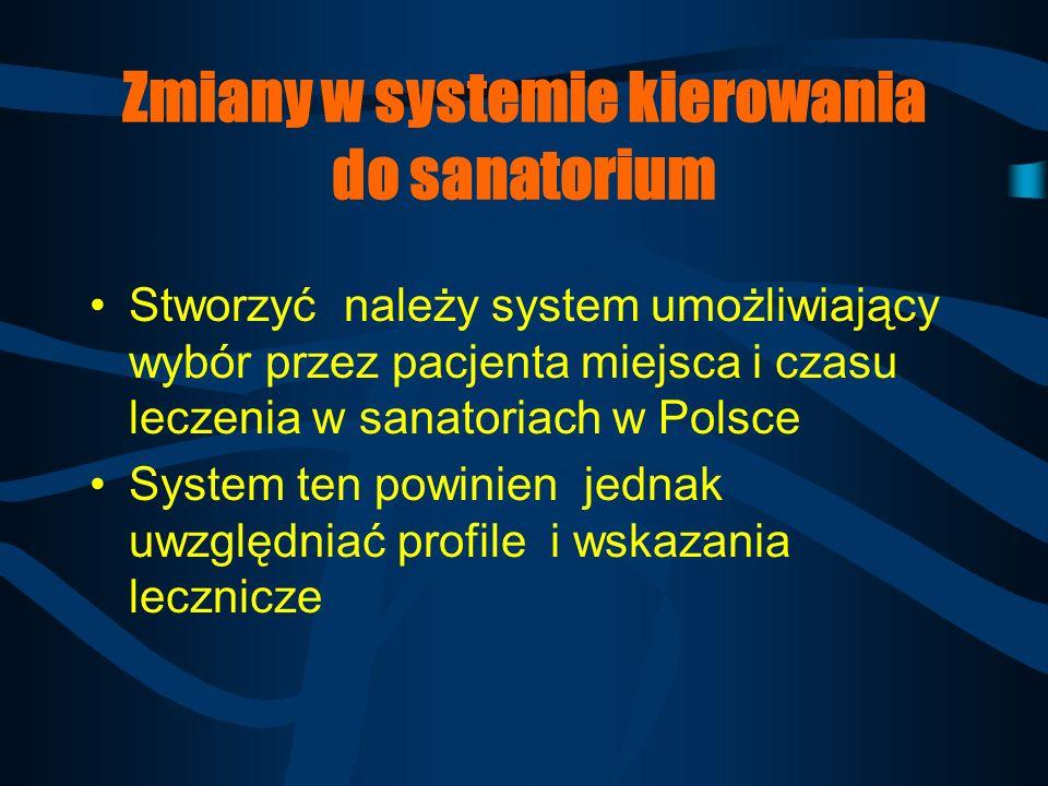 Zmiany w systemie kierowania do sanatorium