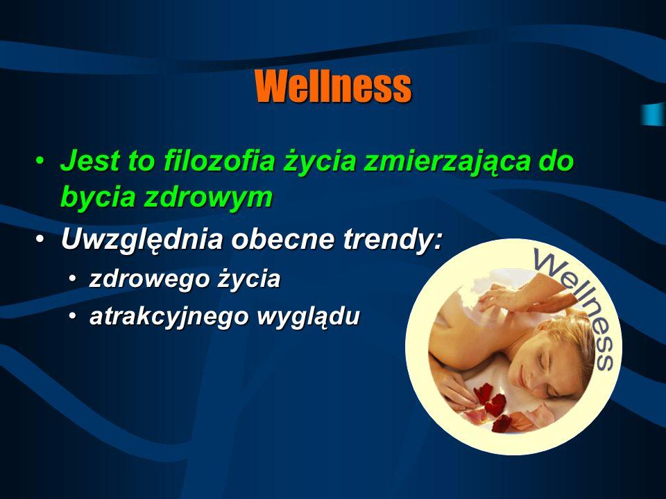 Wellness Jest to filozofia życia zmierzająca do bycia zdrowym