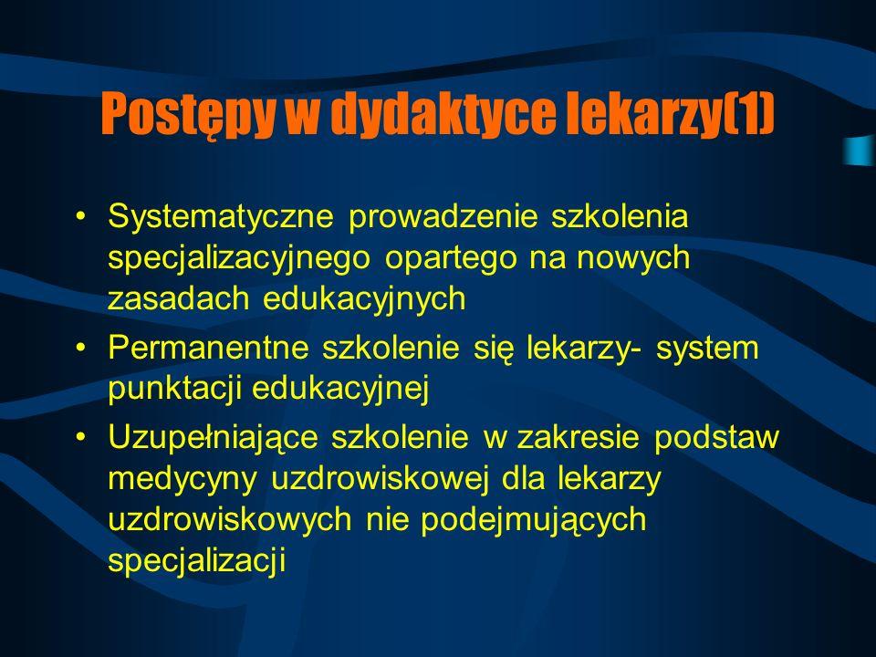 Postępy w dydaktyce lekarzy(1)