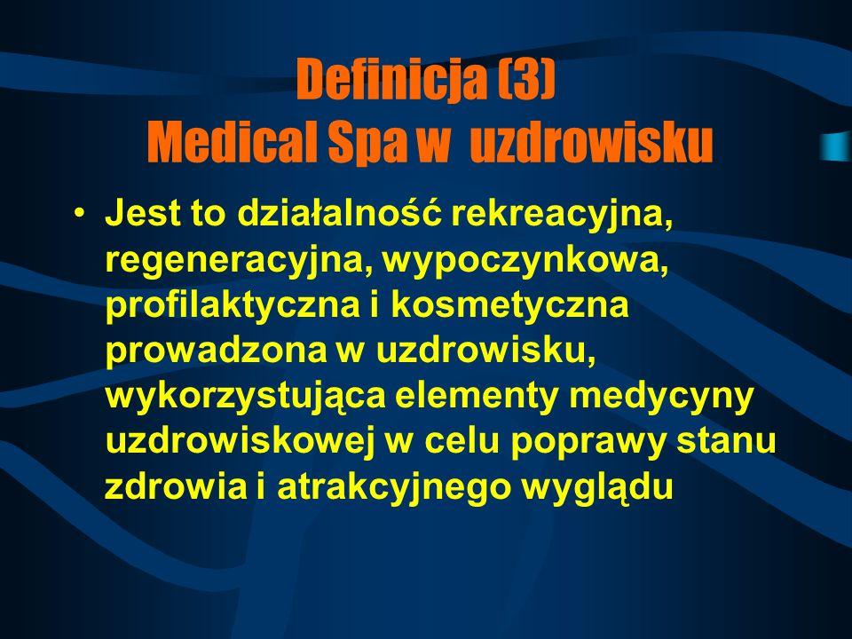 Definicja (3) Medical Spa w uzdrowisku