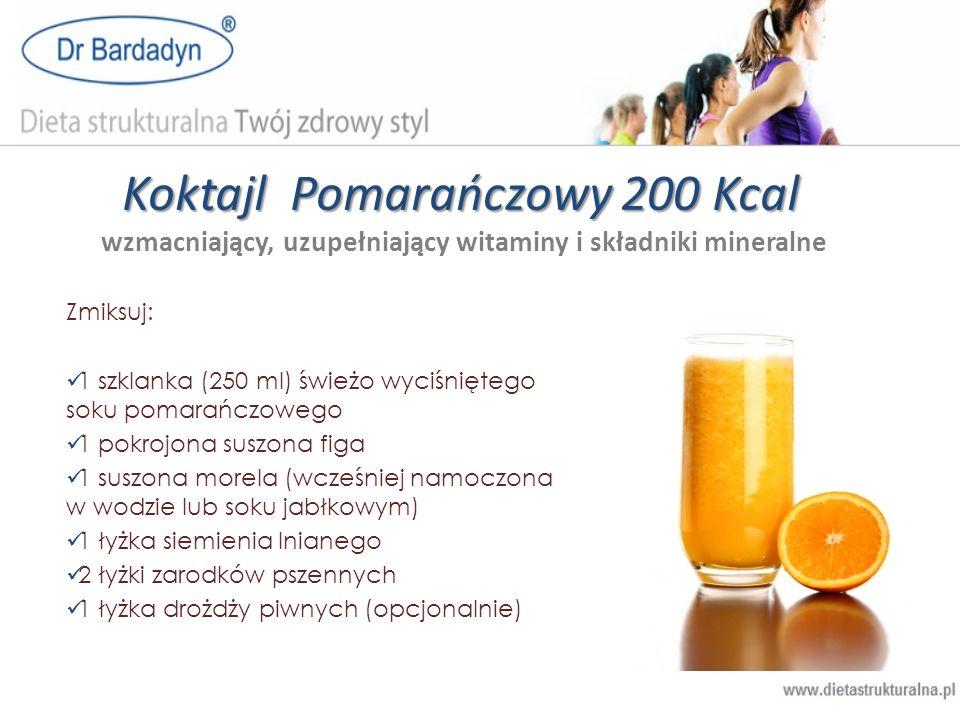 Koktajl Pomarańczowy 200 Kcal wzmacniający, uzupełniający witaminy i składniki mineralne