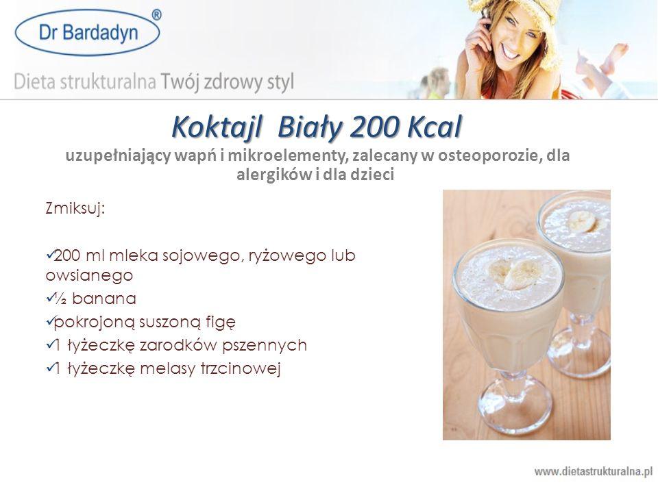 Koktajl Biały 200 Kcal uzupełniający wapń i mikroelementy, zalecany w osteoporozie, dla alergików i dla dzieci