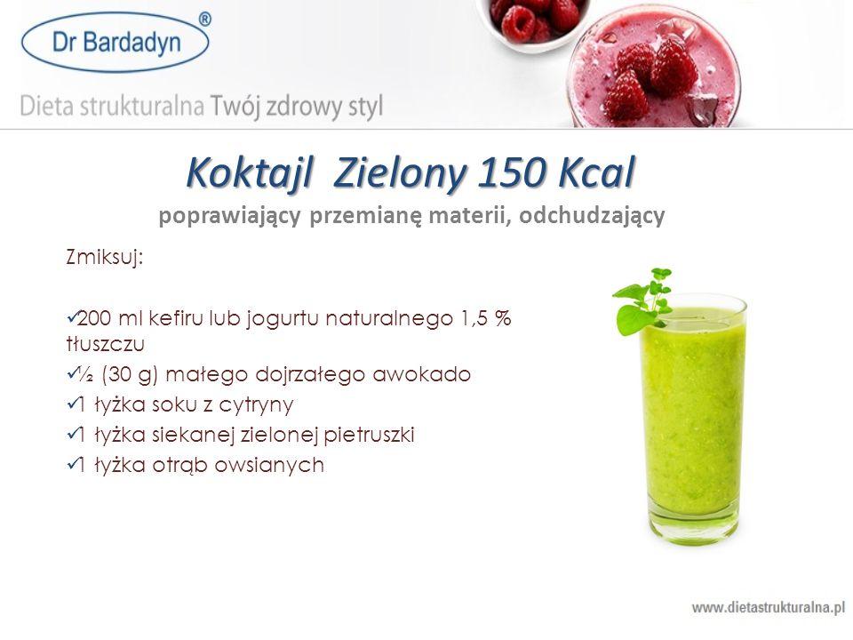 Koktajl Zielony 150 Kcal poprawiający przemianę materii, odchudzający
