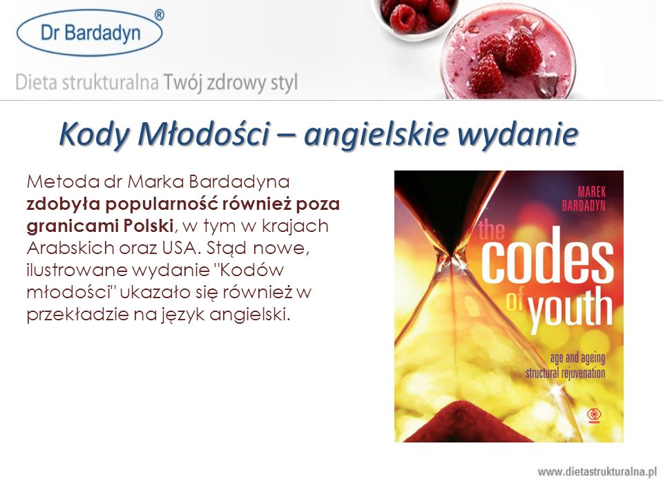 Kody Młodości – angielskie wydanie