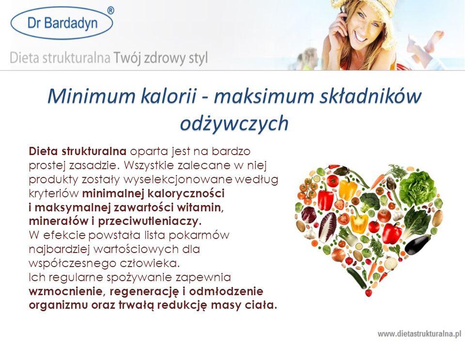 Minimum kalorii - maksimum składników odżywczych