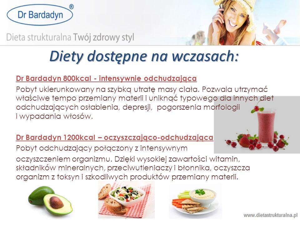 Diety dostępne na wczasach:
