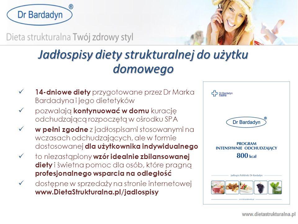 Jadłospisy diety strukturalnej do użytku domowego