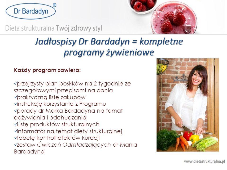 Jadłospisy Dr Bardadyn = kompletne programy żywieniowe