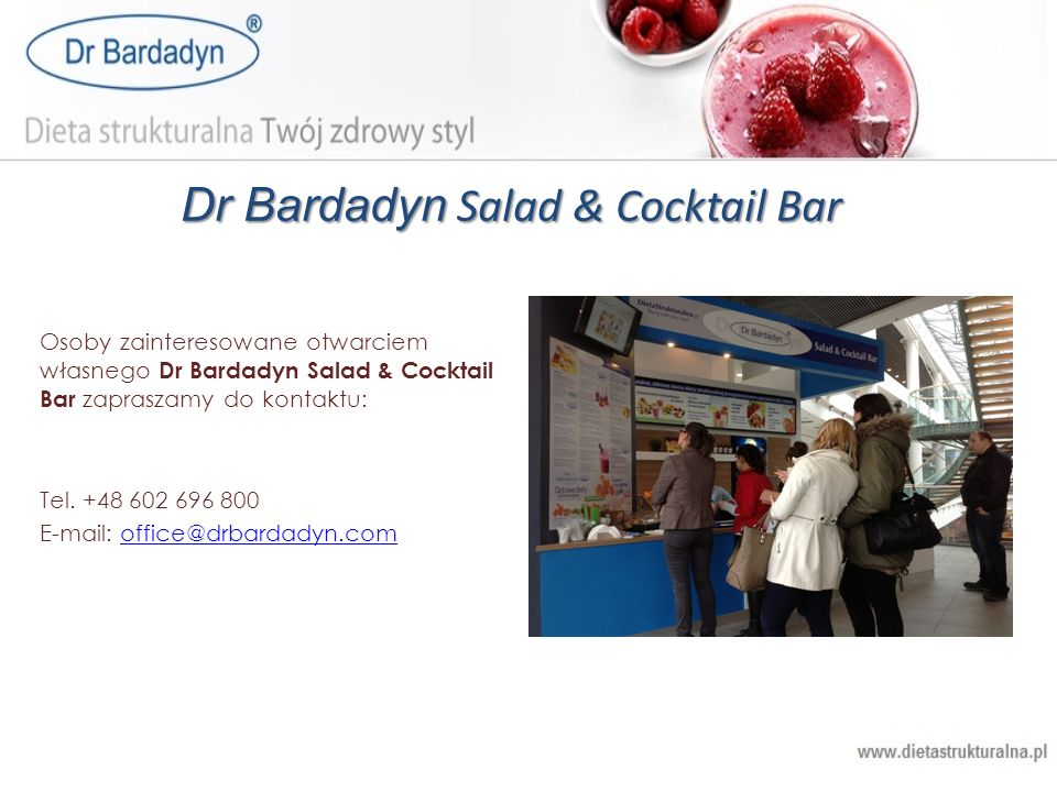 Dr Bardadyn Salad & Cocktail Bar