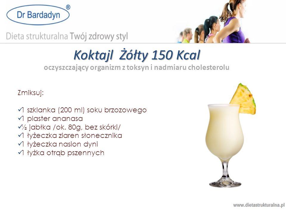 Koktajl Żółty 150 Kcal oczyszczający organizm z toksyn i nadmiaru cholesterolu