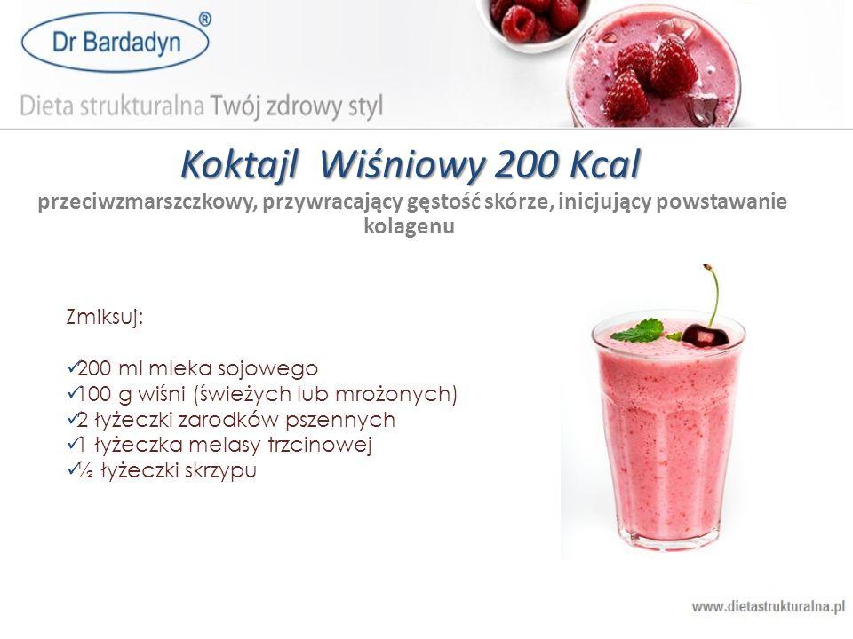 Koktajl Wiśniowy 200 Kcal przeciwzmarszczkowy, przywracający gęstość skórze, inicjujący powstawanie kolagenu