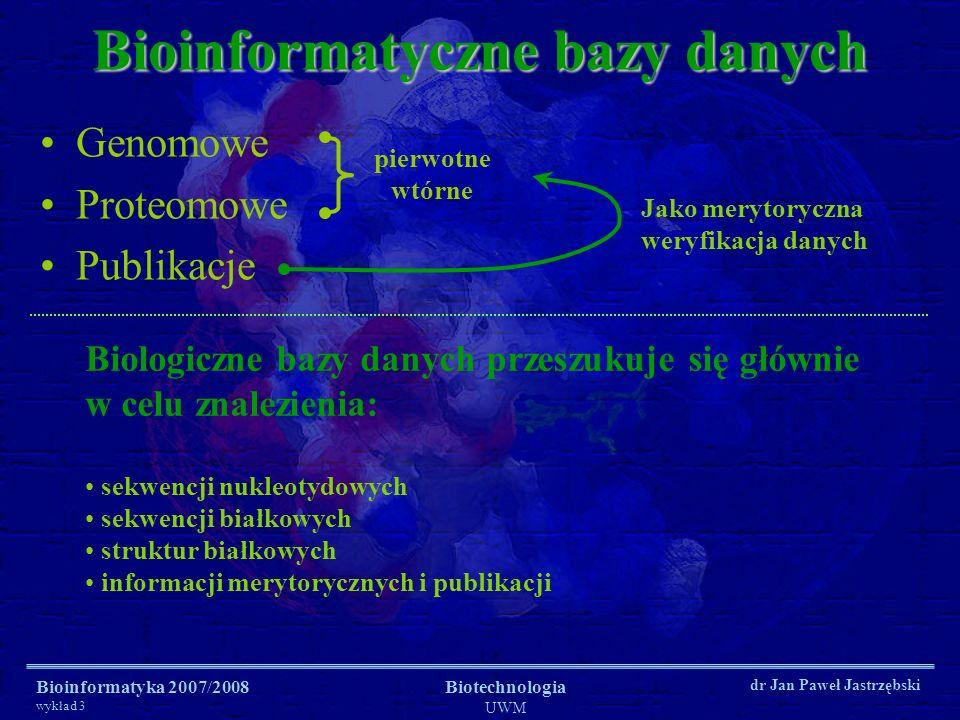 Bioinformatyczne bazy danych