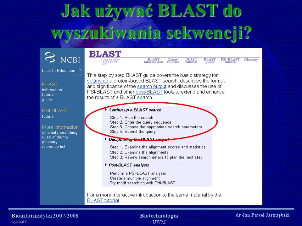 Jak używać BLAST do wyszukiwania sekwencji