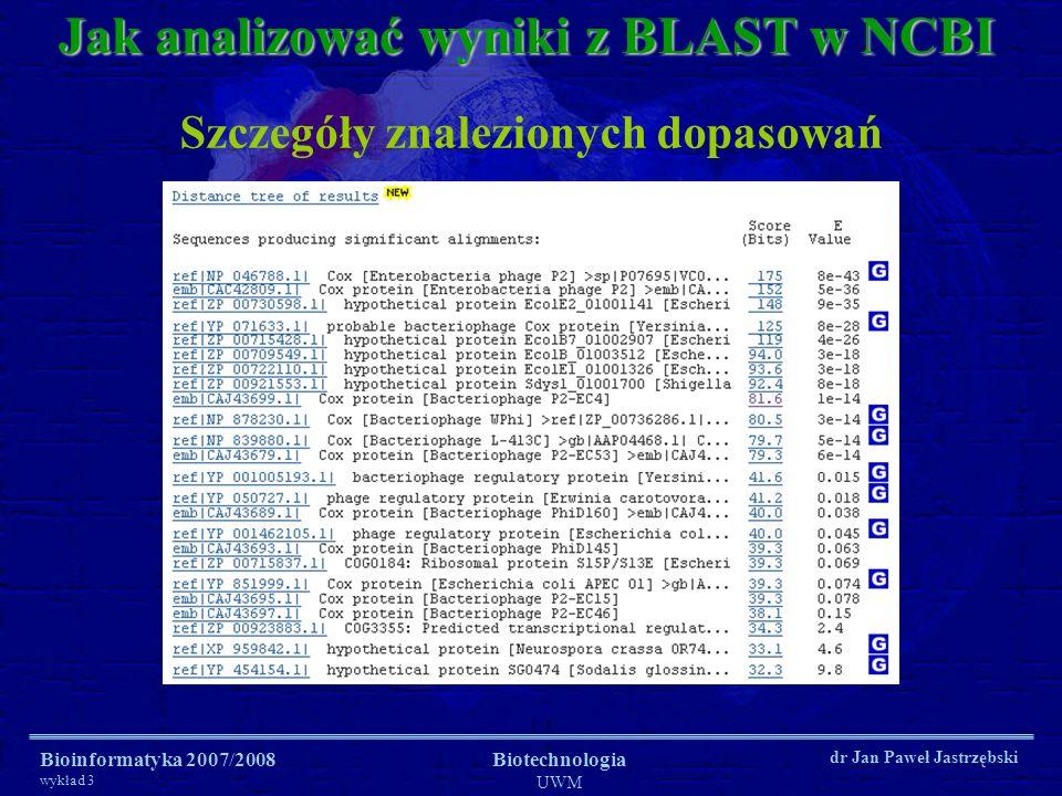 Jak analizować wyniki z BLAST w NCBI