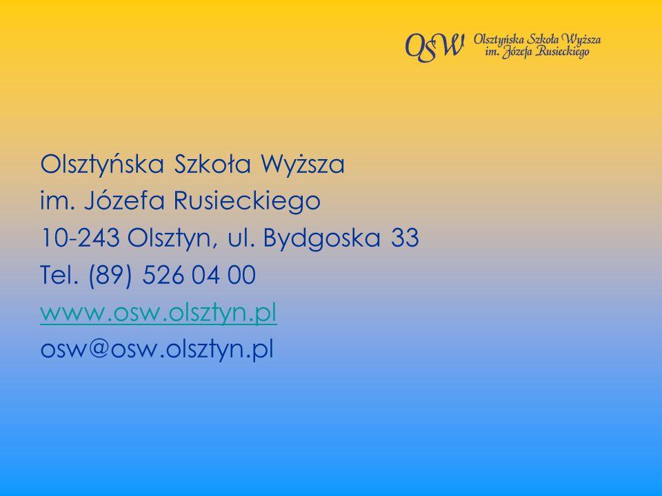 Olsztyńska Szkoła Wyższa