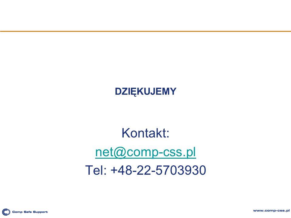 Kontakt: net@comp-css.pl Tel: +48-22-5703930