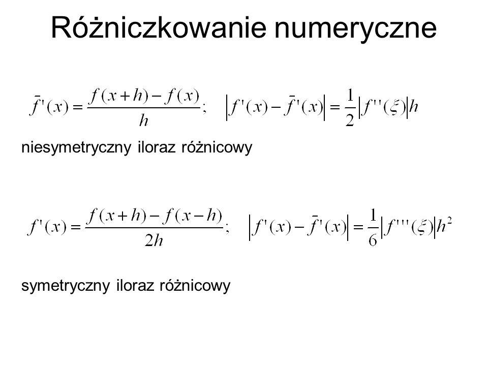 Różniczkowanie numeryczne