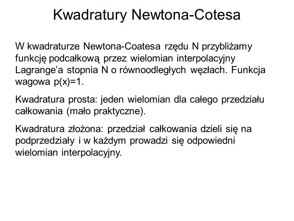 Kwadratury Newtona-Cotesa